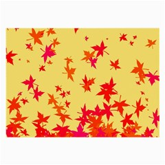 Leaves Autumn Maple Drop Listopad Large Glasses Cloth (2 Side)