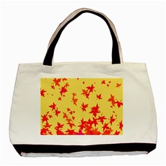 Leaves Autumn Maple Drop Listopad Basic Tote Bag (two Sides) by Sapixe