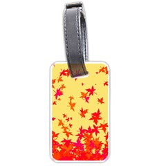 Leaves Autumn Maple Drop Listopad Luggage Tags (two Sides)