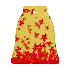 Leaves Autumn Maple Drop Listopad Ornament (bell) by Sapixe