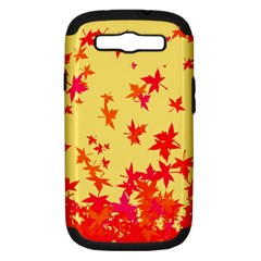 Leaves Autumn Maple Drop Listopad Samsung Galaxy S Iii Hardshell Case (pc+silicone) by Sapixe