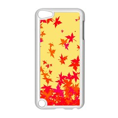 Leaves Autumn Maple Drop Listopad Apple Ipod Touch 5 Case (white) by Sapixe