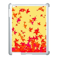 Leaves Autumn Maple Drop Listopad Apple Ipad 3/4 Case (white) by Sapixe