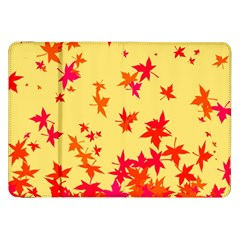 Leaves Autumn Maple Drop Listopad Samsung Galaxy Tab 8 9  P7300 Flip Case by Sapixe