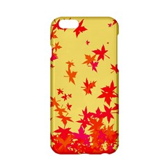 Leaves Autumn Maple Drop Listopad Apple Iphone 6/6s Hardshell Case by Sapixe