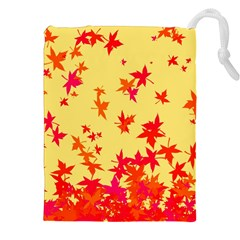 Leaves Autumn Maple Drop Listopad Drawstring Pouches (xxl) by Sapixe