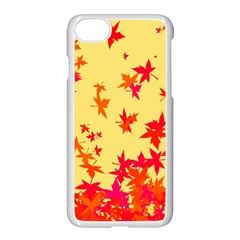Leaves Autumn Maple Drop Listopad Apple Iphone 7 Seamless Case (white) by Sapixe