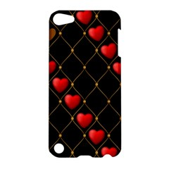 Background Texture Texture Hearts Apple Ipod Touch 5 Hardshell Case by Sapixe