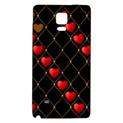 Background Texture Texture Hearts Galaxy Note 4 Back Case by Sapixe
