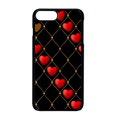 Background Texture Texture Hearts Apple Iphone 8 Plus Seamless Case (black) by Sapixe