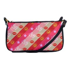 Background Desktop Pink Sun Stars Shoulder Clutch Bags
