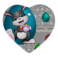 Illustration Celebration Easter Heart Ornament (two Sides) by Sapixe