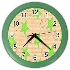 Background Desktop Beige Color Wall Clocks by Sapixe