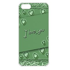 Card I Love You Heart Romantic Apple Iphone 5 Seamless Case (white) by Sapixe
