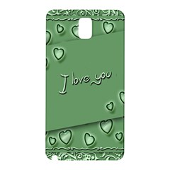 Card I Love You Heart Romantic Samsung Galaxy Note 3 N9005 Hardshell Back Case