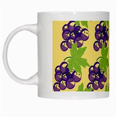 Grapes Background Sheet Leaves White Mugs