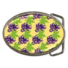Grapes Background Sheet Leaves Belt Buckles by Sapixe