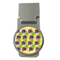 Grapes Background Sheet Leaves Money Clips (round)  by Sapixe