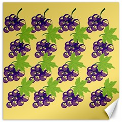 Grapes Background Sheet Leaves Canvas 16  X 16   by Sapixe
