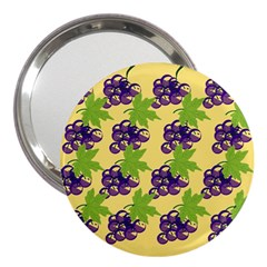Grapes Background Sheet Leaves 3  Handbag Mirrors by Sapixe