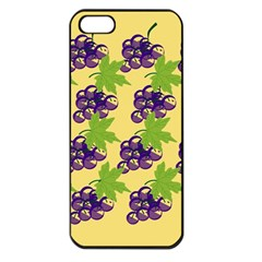 Grapes Background Sheet Leaves Apple Iphone 5 Seamless Case (black)