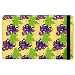 Grapes Background Sheet Leaves Apple Ipad 2 Flip Case by Sapixe