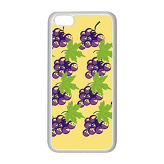 Grapes Background Sheet Leaves Apple Iphone 5c Seamless Case (white) by Sapixe