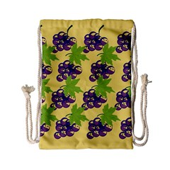 Grapes Background Sheet Leaves Drawstring Bag (small)