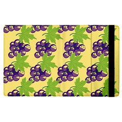 Grapes Background Sheet Leaves Apple Ipad Pro 12 9   Flip Case by Sapixe