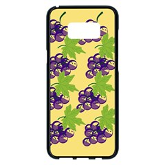 Grapes Background Sheet Leaves Samsung Galaxy S8 Plus Black Seamless Case