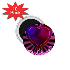 Background Texture Reason Heart 1 75  Magnets (10 Pack)  by Sapixe