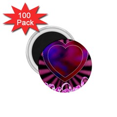 Background Texture Reason Heart 1 75  Magnets (100 Pack)