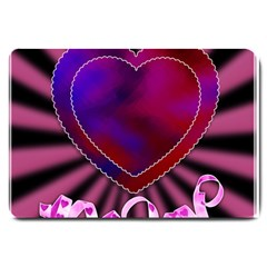 Background Texture Reason Heart Large Doormat  by Sapixe