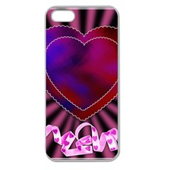 Background Texture Reason Heart Apple Seamless Iphone 5 Case (clear) by Sapixe
