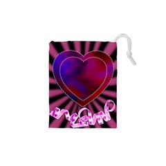 Background Texture Reason Heart Drawstring Pouches (xs)  by Sapixe