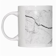 White Background Pattern Tile White Mugs