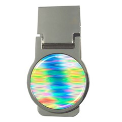 Wave Rainbow Bright Texture Money Clips (round)