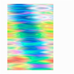 Wave Rainbow Bright Texture Small Garden Flag (two Sides) by Sapixe