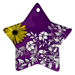 Background Bokeh Ornament Card Star Ornament (two Sides) by Sapixe