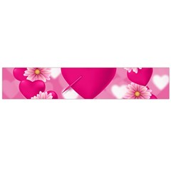 Background Flowers Texture Love Large Flano Scarf