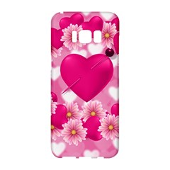 Background Flowers Texture Love Samsung Galaxy S8 Hardshell Case