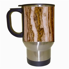 Marble Wall Surface Pattern Travel Mugs (white)