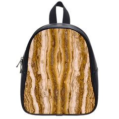 Marble Wall Surface Pattern School Bag (small) by Sapixe