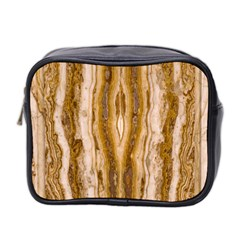 Marble Wall Surface Pattern Mini Toiletries Bag 2 Side by Sapixe
