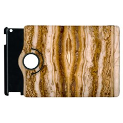Marble Wall Surface Pattern Apple Ipad 2 Flip 360 Case by Sapixe