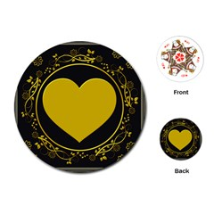 Background Heart Romantic Love Playing Cards (round)  by Sapixe