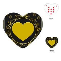 Background Heart Romantic Love Playing Cards (heart)  by Sapixe