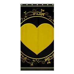 Background Heart Romantic Love Shower Curtain 36  X 72  (stall)