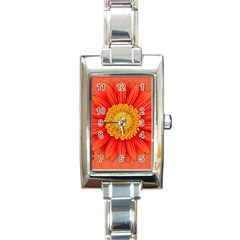 Flower Plant Petal Summer Color Rectangle Italian Charm Watch by Sapixe