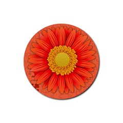 Flower Plant Petal Summer Color Rubber Coaster (round)  by Sapixe
